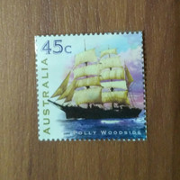 Perangko Kuno Australia Polly Woodside 1999 Antik Langka Luar Negeri
