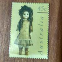 Perangko Boneka Kuno Australia 45c Murah Antik Langka Koleksi