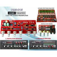 KIT TONE CONTROL HIFI 2.1 MP3 + SPECTRUM ANALYZER DMS-215