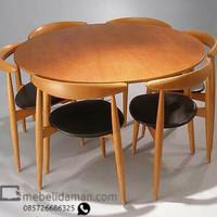 Meja makan kursi cafe kursi duduk kursi makan kayu jati solid dan busa