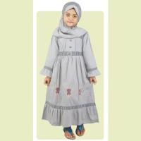 Baju Muslim Anak Modern Terbaru  Gamis,Koko Pakistan, Dress Abu-Abu