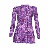 Lasona SWJ-C1578-L01954X Baju Renang Rok Wanita Tangan Panjang - Pink