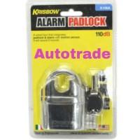 Jual Gembok Alarm Heavy Duty Krisbow K106A / Alarm Padlock / Anti