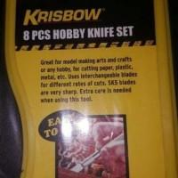 Harga dijual krisbow 8 pcs hobby knife set pisau hobi craft pahat   WIKIPRICE INDONESIA