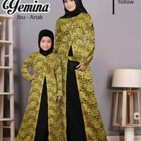 Baju Couple Ibu Anak / Busana Muslim Pasangan Copel Novie Mustard M&k