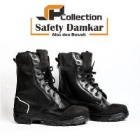 Sepatu PDL Safety Damkar bahan kulit sapi asli uk 46-47