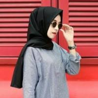 Jual Hijab/Kerudung/Jilbab Pasmina/Pashmina Denim Supernova Rawis Polos Murah