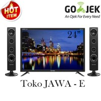 POLYTRON Cinemax 24T810 LED TV 24 Inch + Speaker Suara Limited