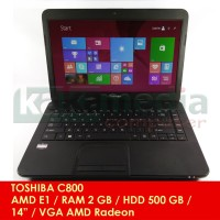 Laptop Toshiba AMD Dual Core E1 RAM 2 GB Bekas Murah Bergaransi