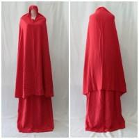 Mukena Jumbo Tali Warna Merah Polos 8
