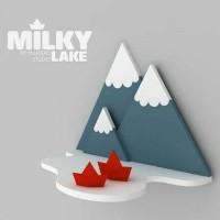 Rak Buku Gantung Dinding Cute Minimalis Full Premium Fiberboard