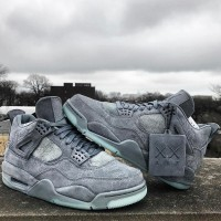 0424a7bf4b6c Nike Air Jordan IV 4 x KAWS Gray Grey High Premium Original