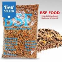 BSF food pakan burung kenari lovebird blackthroat mozambik harian