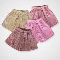 KicauKecil Celana Kulot Pendek Anak Stripe 1-8T Coklat Pink Maroon