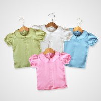KicauKecil - Mika Basic Top Blouse Anak 1-8T Pink,Green,Blue,Off White