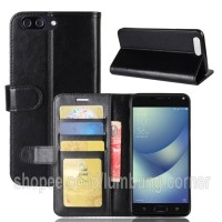 Flip Cover Leather Cover Case HP Asus Zenfone 4 Max Pro (Plus) ZC554KL