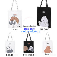 Miniso Tote bag We bare bears shopping bags