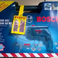 Bor Tembok Bosch GSB 10 RE + EXTRA 100pcs Accessories + 2 Set Mata