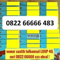 Jual kartu perdana telkomsel LOOP 4G nomer cantik seri rapih panca tengah Murah