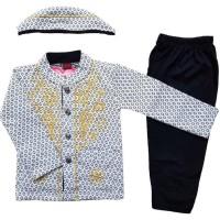 Baju Muslim Koko (6-12 Bulan) Anak Bayi Laki-Laki Setelan Set Peci LY2