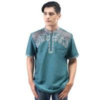 Baju koko Busana Muslim Pria warna Tosca lengan Pendek SGB 432