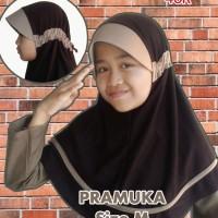Jilbab Anak Sekolah Sd & Pramuka Cantik Size M Anak Senang