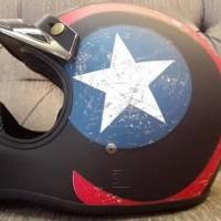 Terlaris Helm Cakil Hbc Captain America Hitam