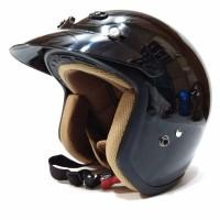 Helm Retro Helm Classic Helm Bogo Helm Vespa Ava Hitam Glossy BEST Q