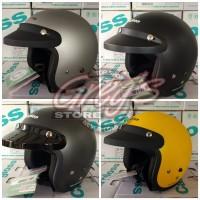 Helm CF Cargloss Bogo Retro Chips Japstyle Cafe Racer Classic Vespa