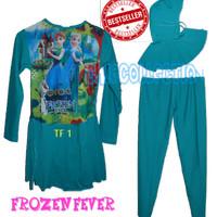 Blouse Muslim Baju Renang anak frozen muslim size SD