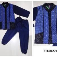 Best STKDL274 - Baju Anak Cowok Gamis Baju Koko Anak Model PP B1 Biru