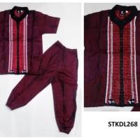 Best STKDL268 - Baju Anak Cowok Gamis Baju Koko Anak Model CP A1 Merah