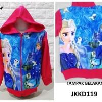 Best JKKD119 - Jaket Anak Frozen Blue Palace Pink Fuschia