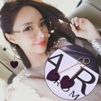 9145 anting jepit panjang pendek love earrings earring fashion korea