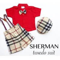 Sherman Tuxedo Suit / Baju Bayi Laki-laki / Baju Anak Laki-laki