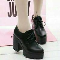 Sepatu Boots wanita Hak tahu fashion TP 091