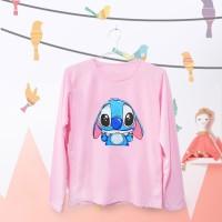 Tumblr Tee / T-Shirt / Kaos Wanita Lengan Panjang Lilo Peace Pink