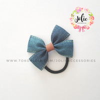MINI BUTTERFLY JEANS (Jolie Accessories) hair tie - ikat rambut