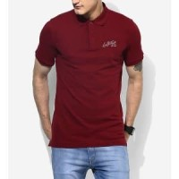Kaos Polo Shirt Bahan Lacoste Premium Murah Merah Marun Berkualitas