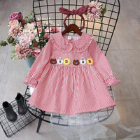 GA2633 LIN RED (BAJUKIDDIE) BAJU ANAK LINE moon brown cony sally