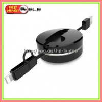 CAFELE 2in1 Kabel Charger Micro USB Lightning Retractable 1 Meter
