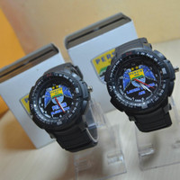 jam tangan couple persib tahan air - jam costum persib