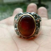 batu cincin akik red baron