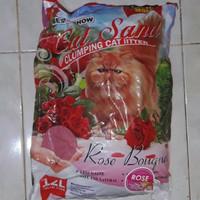 Harga pasir kucing cat sand rose maxi best in show 12lt khusus   antitipu.com