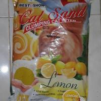 Harga pasir kucing cat sand lemon maxi best in show 12 lt khusus   antitipu.com