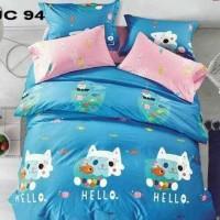 Sprei Katun Jepang Hello Cat 120x200x25