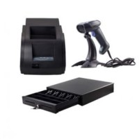 Paket Printer Q58M,Barcode Scanner Tembak & Cash Drawer Kecil