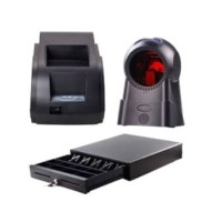 Paket Printer Q58M,Barcode Scanner & Cash Drawer Kecil
