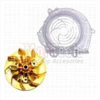 Paket Cover Transparan + Kipas Gold Beat karbu