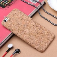 Jual Natural Cork Wooden Case/Casing Hp Iphone 6/6S Plus-Softcase